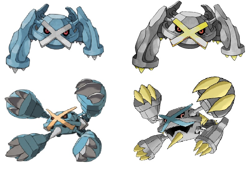 Metagross Shiny und Mega Formen Shinys